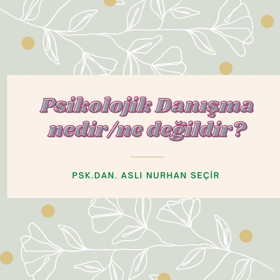 Psikolojik Danışma Nedir? Ne Değildir?